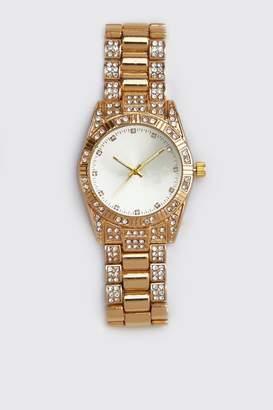 boohoo Diamante Bracelet Strap Watch