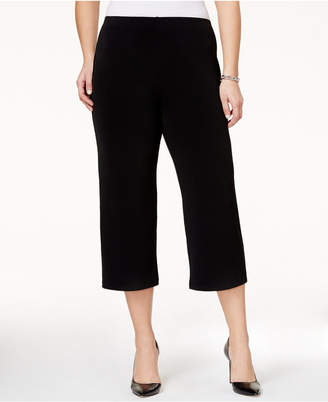 Alfani Plus Size Pull-On Culotte Soft Pants, Created for Macy's