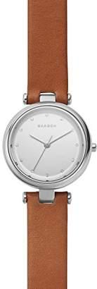 Skagen Women's SKW2458 Tanja Dark Leather Watch