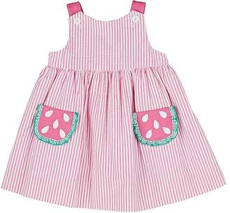 Florence Eiseman Infants' Watermelon Seersucker Dress & Bloomers