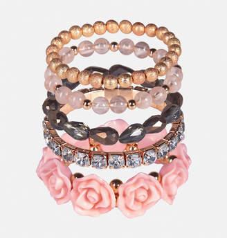 Avenue Floral Beaded Bracelet Set