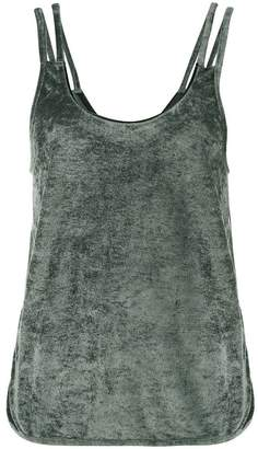 Lot 78 Lot78 Sleeveless Velvet Top with Cut Out Sides
