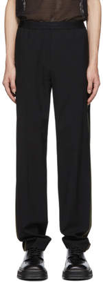 Helmut Lang Black Green Band Pull On Trousers