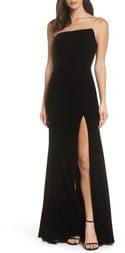 56539f237f0e Black Velvet Strapless Dress - ShopStyle