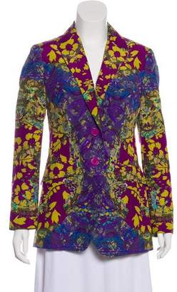 Etro Silk-Blend Paisley Blazer