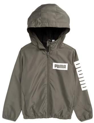 Rebel Full Zip Hooded Windbreaker Jacket