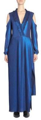 Each X Other Pleated Metallic Maxi Dress