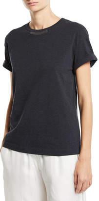 Brunello Cucinelli Short-Sleeve Monili-Trim Shirt