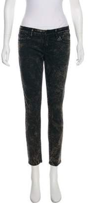 The Kooples Marble Print Mid-Rise Jeans w/ Tags