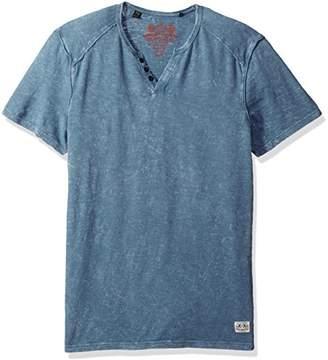 Buffalo David Bitton Men's Karwayne Short Sleeve Henley Knit Shirt