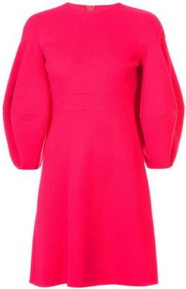 Oscar de la Renta lantern sleeve flared dress