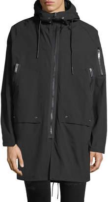 Karl Lagerfeld Men's Oversized Coat with Hood