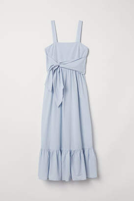 H&M Cotton Maxi Dress - Blue