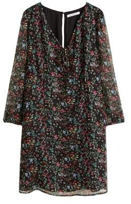 Violeta BY MANGO Floral-print flowy dress