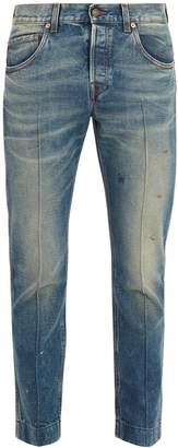 Gucci Mid-rise tapered-leg jeans