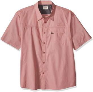 Wrangler Men's Big and Tall Authentics Short Sleeve Utility Shirt