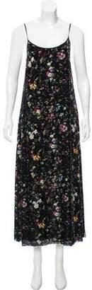 R 13 Floral Print Velvet Dress