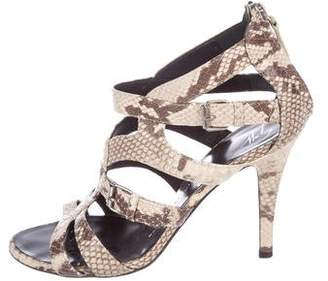 Giuseppe Zanotti Embossed Cage Sandals