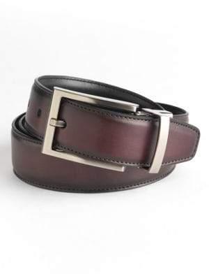 Black & Brown Black Brown Reversible Leather Belt