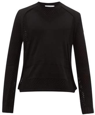 Craig Green Panelled Wool Crochet Sweater - Mens - Black
