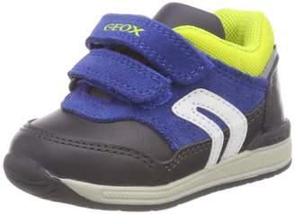 Geox Boy's B RISHON BOY Sneakers, Navy/White