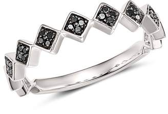 Bloomingdale's Black Diamond Geometric Stacking Ring in 14K White Gold, 0.10 ct. t.w. - 100% Exclusive