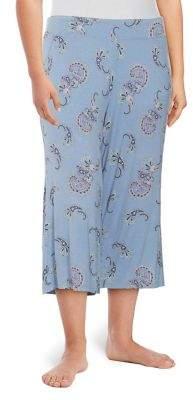 Lady Sarah Plus Paisley Capri Pants
