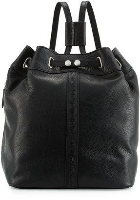 Kelsi Dagger Dusen Leather Drawstring Backpack, Black $140 thestylecure.com