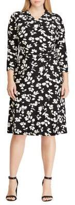 Lauren Ralph Lauren Plus Floral Jersey Dress