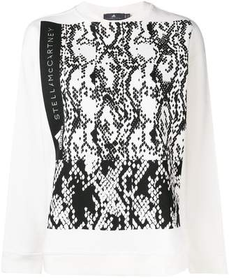 adidas by Stella McCartney printed crew neck sweatshirt