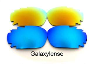 9842037626 Oakley Galaxylense Galaxy Replacement Lenses for Racing Jacket Blue Gold  Polarized 2 Pairs