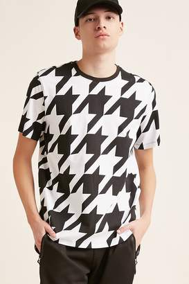 Forever 21 Houndstooth Print Tee
