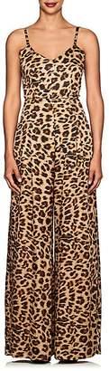 Azeeza Women's Leopard-Print Silk Wide-Leg Jumpsuit