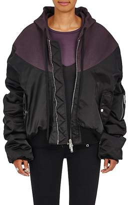 Taverniti So Ben Unravel Project Women's Oversized Tech-Fabric Bomber Jacket