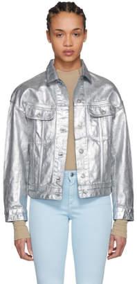 Acne Studios Silver Denim Lamp Jacket