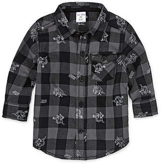 Okie Dokie Dinosaur Long Sleeve Button-Front Shirt - Baby Boy NB-24M