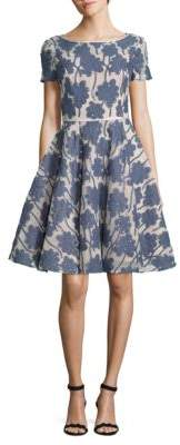 NUE by Shani Fit-&-Flare Floral Dress