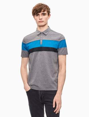 Calvin Klein classic fit liquid cotton colorblock polo shirt