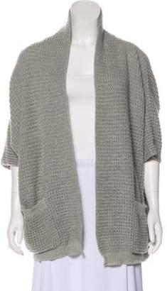 Armani Collezioni Open Front Knit Cardigan grey Open Front Knit Cardigan