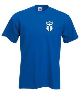 Invicta Greece Greek Football Team Soccer T Shirt