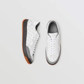 Burberry Perforated Logo Leather Sneakers