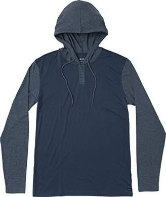 RVCA Men's Pick up Hooded Henley Shirt