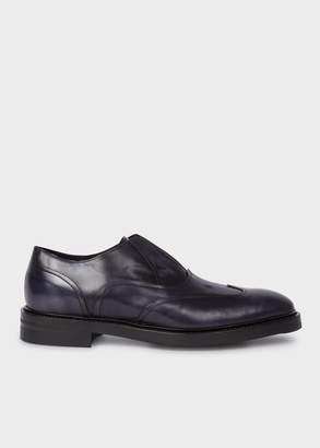 Paul Smith Men's Dark Navy 'Hicks' Laceless Leather Brogues