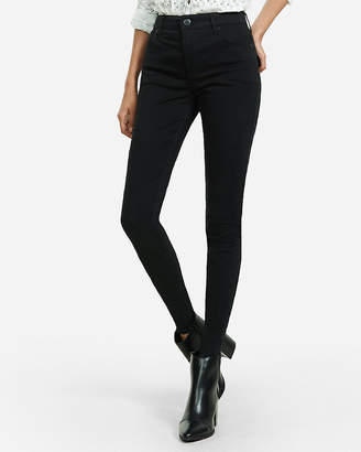 Express Black High Waisted Stretch Twill Leggings