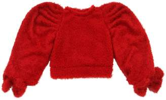 Boucle Sweater W/ Bows
