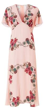 Sandro Botanical Midi Dress