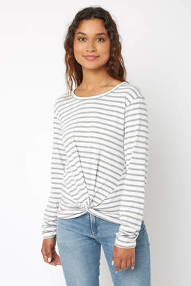 RD Style Stripe Knot Front Tee