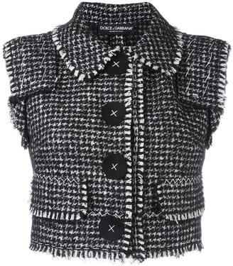 Dolce & Gabbana bouclé gilet $1,995 thestylecure.com