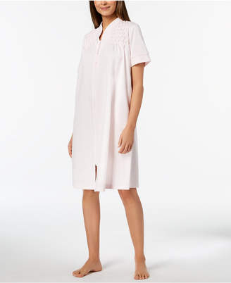 Miss Elaine Embroidered-Trim Robe