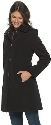 London Fog Women's TOWER by Hooded Rain Jacket